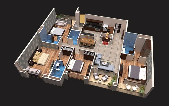 4 BHK - luxury apartments in Indore